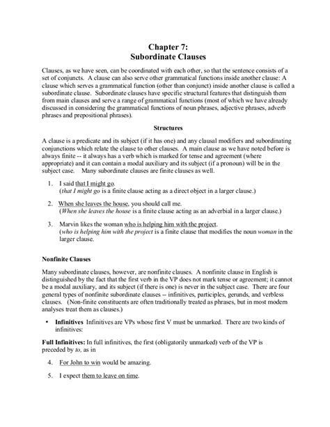 6+ Subordinate Clause Examples in PDF   Examples