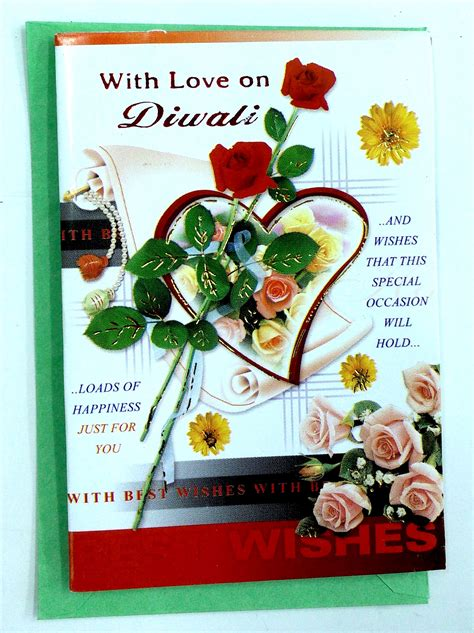 Small Assorted Diwali Greeting Cards, Diwali Wishes Card