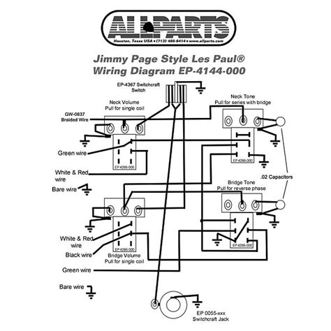 WIRING KIT-Gibson® JIMMY PAGE LES PAUL Complete with   Reverb