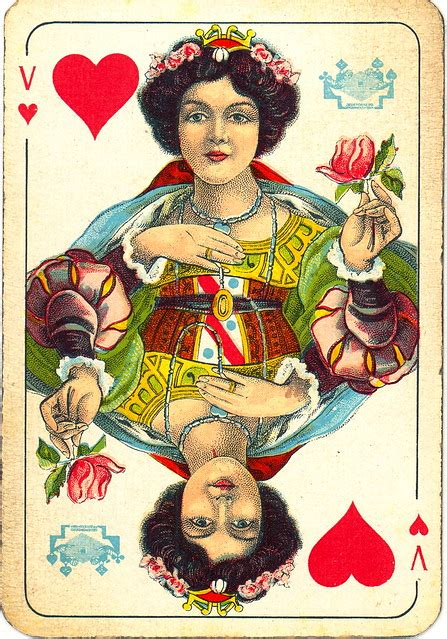 Dutch playing cards from 1920-1927: Queen of Hearts