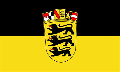 File:Flag of Baden-Württemberg (state, greater arms)