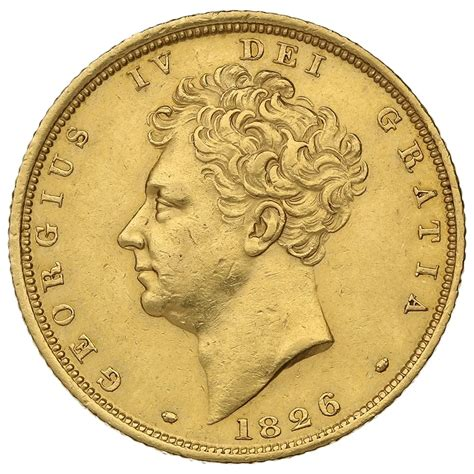 1826 Gold Sovereign - George IV Bare Head - 1 763