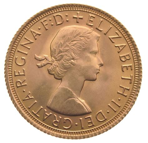 1966 Gold Sovereign - Elizabeth II Young Head - $540