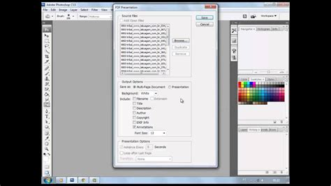 How to convert jpg to pdf by photoshop - YouTube
