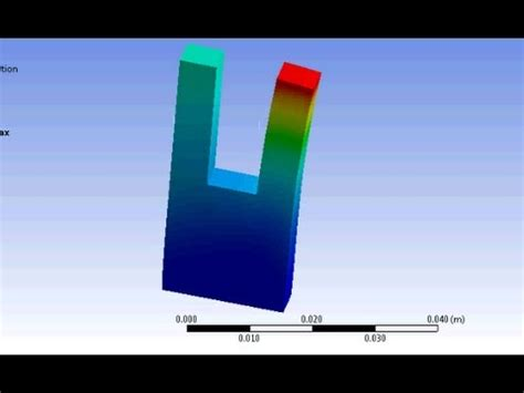 ANSYS: Thermal expansion in solid - YouTube